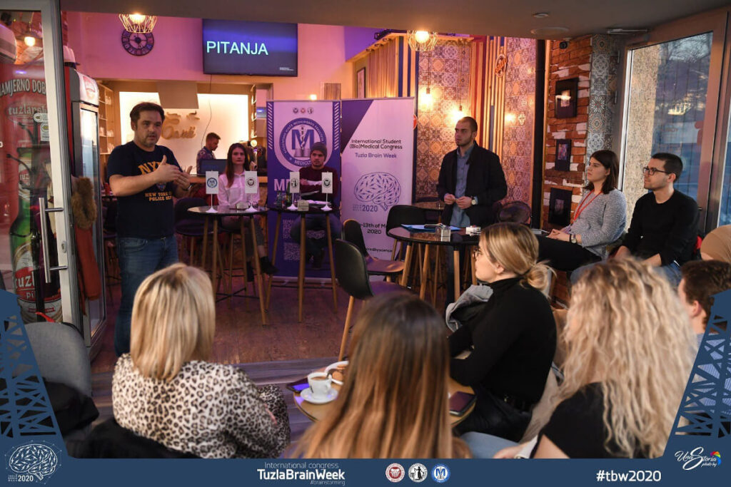 "TBW Science Cafe -  topic: brainstorming in different career branches, organized by the Student Council ""MEDICUS"" Medical Faculty Tuzla, in Bosnia and Herzegovina."
