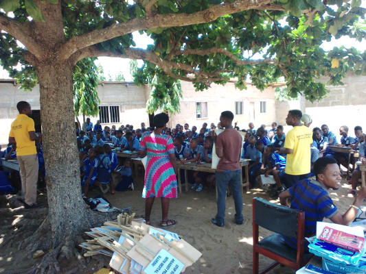 A presentation organized by Students of Success in Ghana, Africa