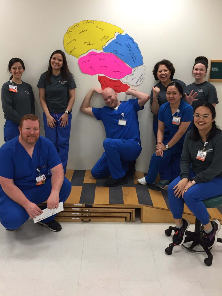 Some local brain heroes at the Adult Physical Rehabilitation Hospital during an event organized by UT Health East Texas Rehabilitation Hospital in Tyler, Texas.