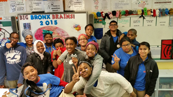 Big Bronx Brains Unite at the Baychester Middle School in New York, USA