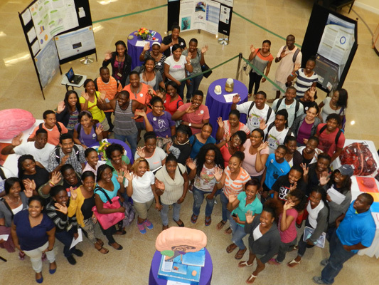 College of Bahamas students who participated in Brain Awareness Week 2015