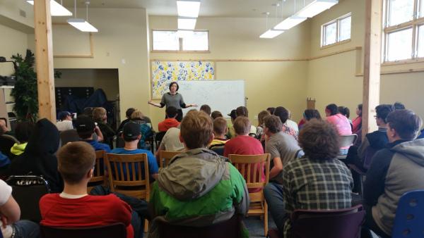 A presentation at The Peak School in Colorado