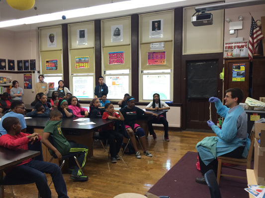 Brain Awareness Week classroom visits by faculty from the University of Chicago Pritzker School of Medicine