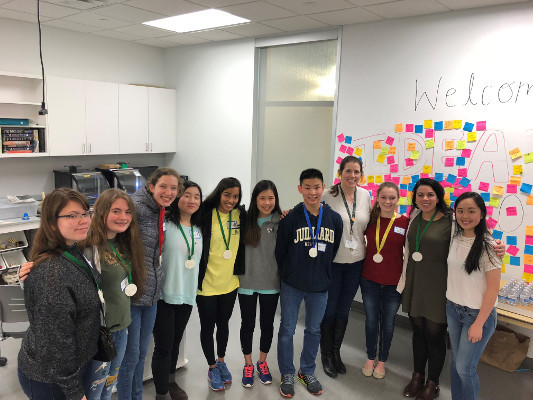 Participants in the fourth regional Brain Bee organized by The Hockaday School in Dallas, Texas