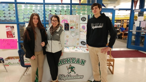 Brain poster during an event organized by Thomas McKean High School in Delaware
