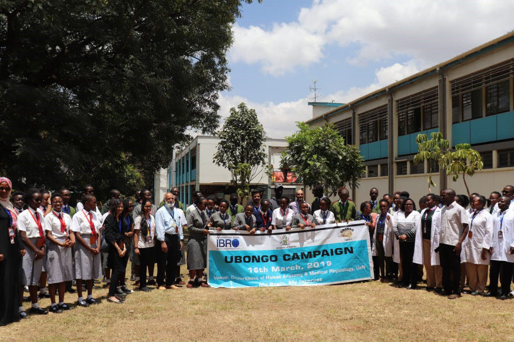 BAW participants at an event organized by Ubongo Brain Awareness Campaign in Kenya.