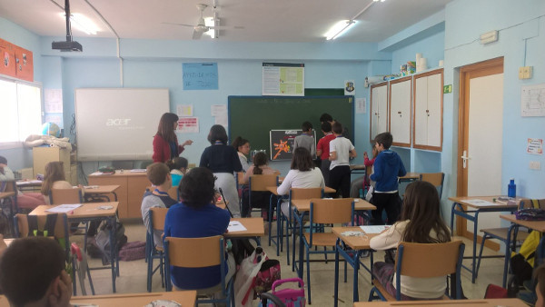 A brain lesson for students organized by Universidad Pablo de Olavide in Spain