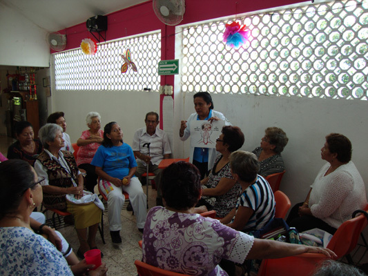 Health Professionals from the Universidad Quintana Roo during a workshop on stroke early detection and risk factors in Mexico