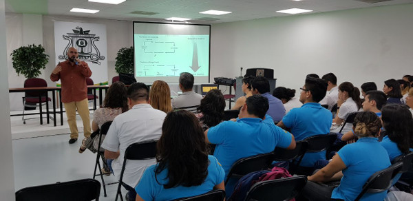 A presentation organized by the the Universidad de Quintana Roo in Chetumal, Mexico