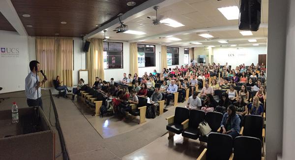 First day of activities at Universidade de Caxias do Sul in Brazil