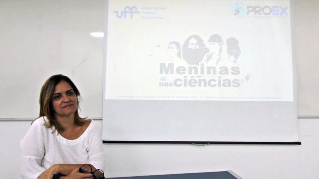 Trial presentation during an event organized by Universidade Federal Fluminense in Brazil.