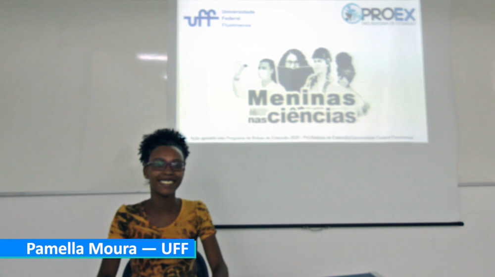 Student interview during an event organized by Universidade Federal Fluminense in Brazil.