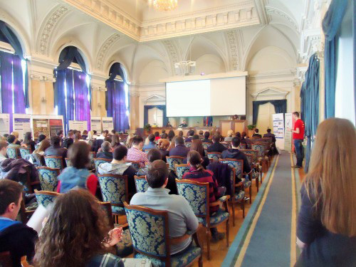 Audience listening to BAW lecture at the University of Belgrade