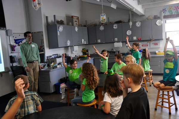 Students visit the lab at the UCLA in California