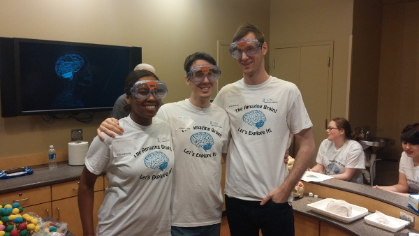 A laboratory event exploring the brain organized by the University of North Carolina