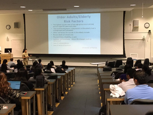 A lecture at the University of the Pacific organized by their Thomas J. Long School of Pharmacy, California