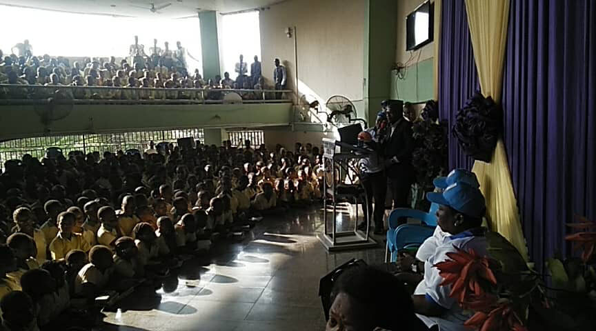 Brain Awareness Campaign event at Spring of Life secondary school, organized by the University of Nigeria.