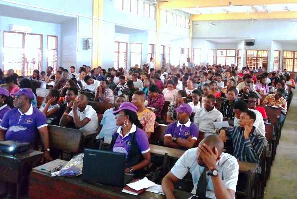 The audience during a presentation organized by the University of Portharcourt, Rivers State in Nigeria