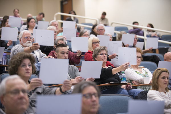 An interactive lecture at Virginia Tech Carilion Research Institute