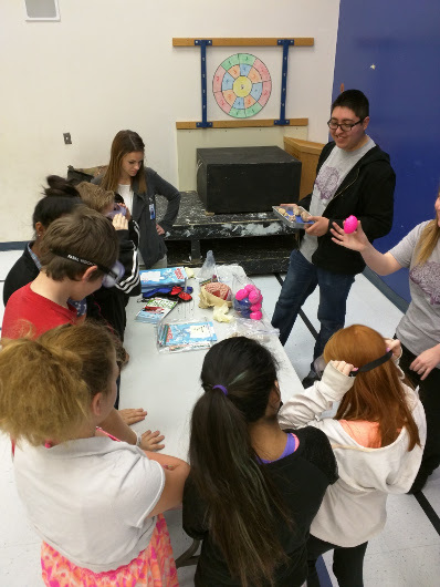 Students learn about the brain as part of Weber State University's BAW activities, Utah