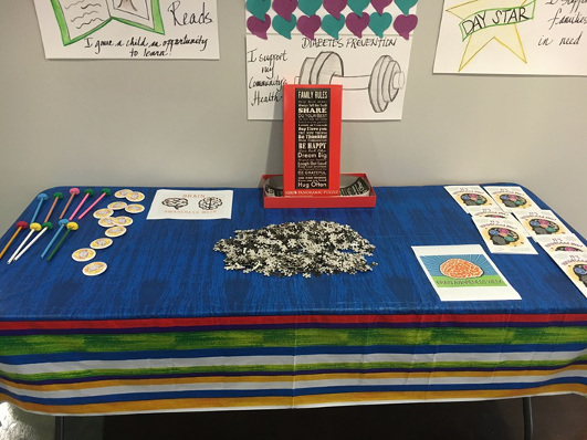 Brain table at an event organized by YMCA of Florida's First Coast
