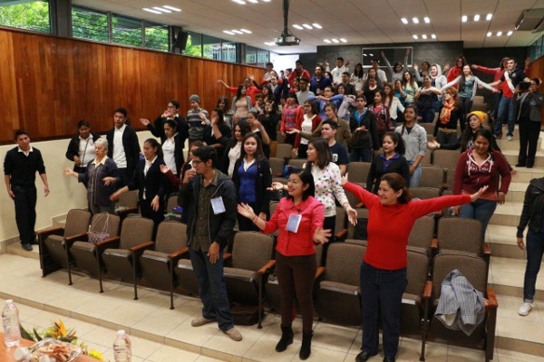 Audience members at a presentation organized by University of Guadalajara, Mexico