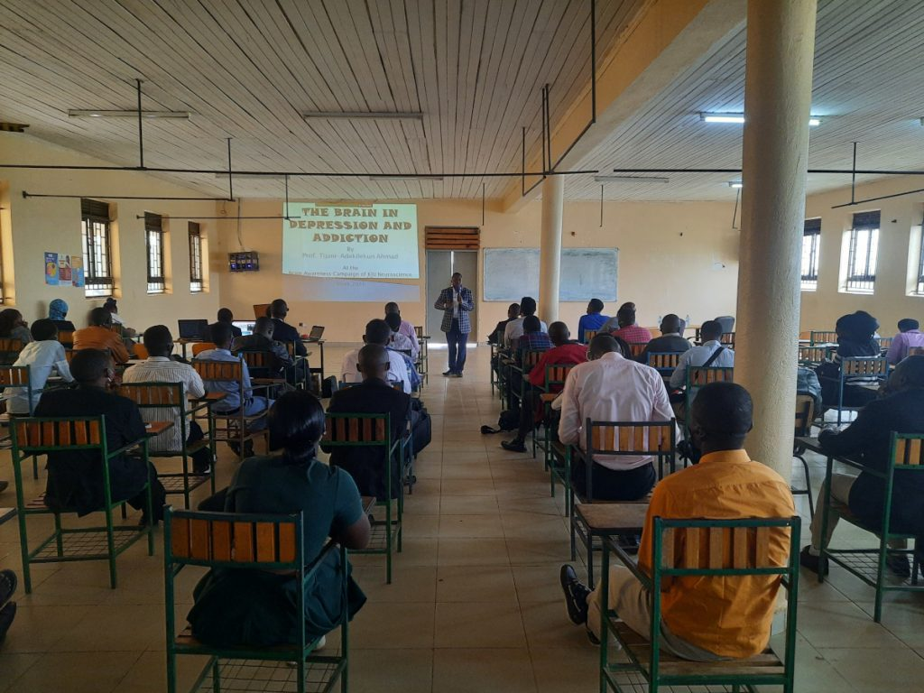 Presentation on depression and addiction organized by Kampala International University Uganda in Africa.