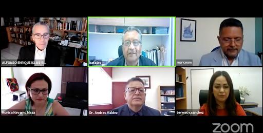 Zoom presentation organized by the Centro Universitario del Sur (CUSur), Universidad de Guadalajara /Planetarium and Interactive Center of Jalisco Lunaria (Guadalajara) in Mexico.