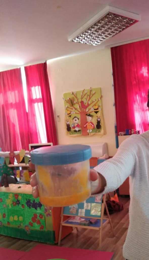 Children did an experiment on the importance of spinal fluid for protection of our brain organized by Dječji vrtić Ploče in Croatia.