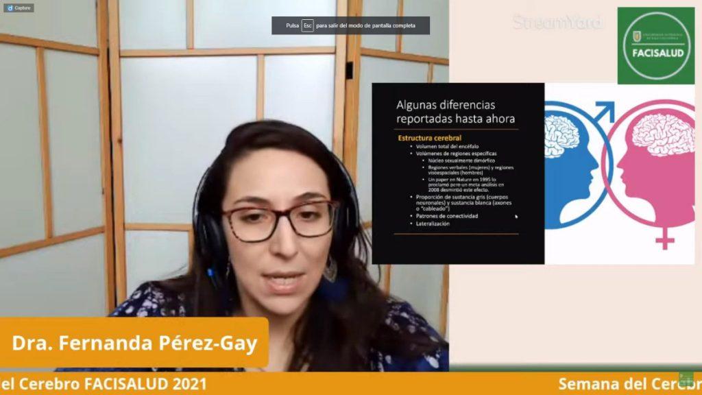 "An online lecture entitled ""Does the brain have gender? The risks of neurosexism"" organized by the Facultad de Ciencias de la Salud, Universidad Autónoma de Baja California in Tijuana, Mexico."