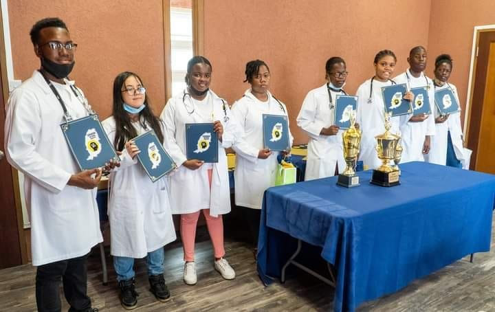 Students who participated in the 2021 Brain Bee competition organized by the Grenada National Brain Bee.