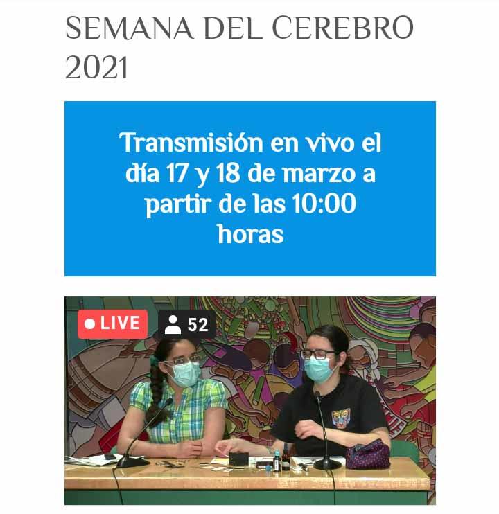 Live online activities organized by the Laboratorio de Investigación en Neurociencias del Hospital Infantil de México Federico Gómez in Mexico.
