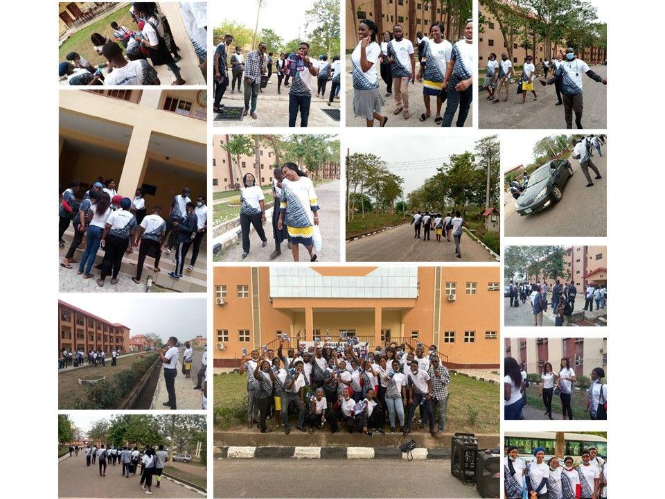Montage of Brain Awareness Week rally organized by Afe Babalola University Ado-Ekiti- Neuro Research Group (ABUAD-NRG) in NIgeria.
