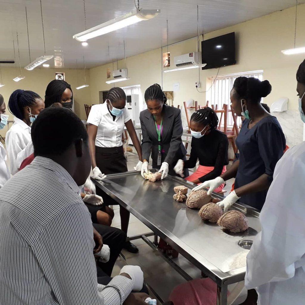 Brain Lab Tour organized by the Anatomy Department Brain Research group Edo State University Uzairue in Nigeria.