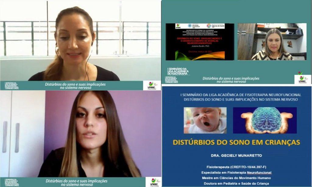 Online lecture organized by Liga Academic de Fisioterapia Neurofuncional in Brazil.