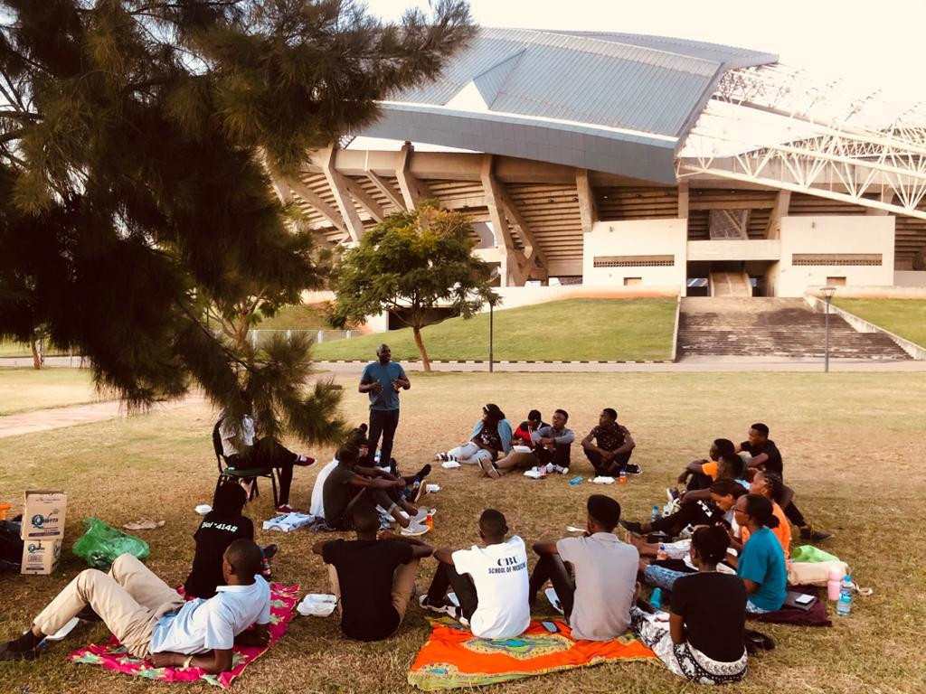 Picnic on the final day of the BAW organized by the The Copperbelt University Of Zambia Cortex Club in Zambia, Africa.