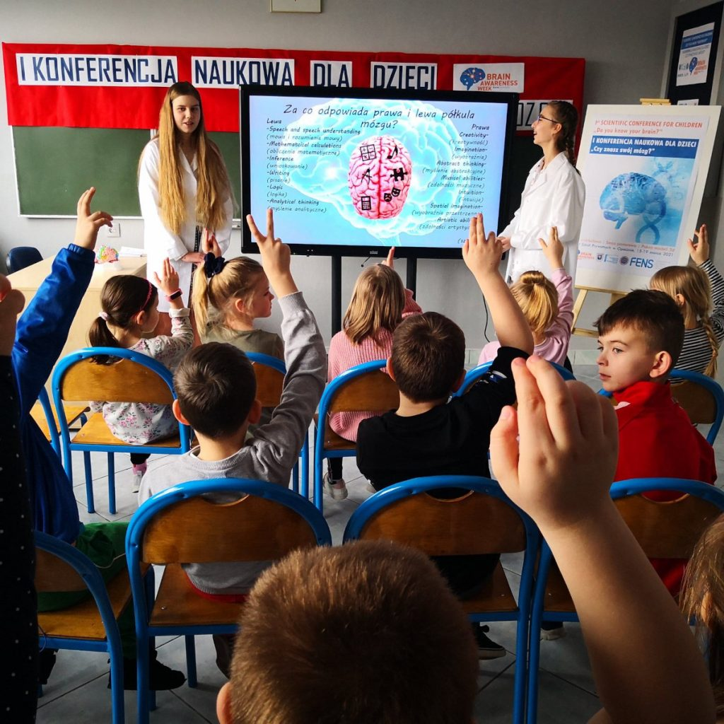 Lecture by 8th grade students for 1st grade students organized by the Association of Private Schools in Opoczno in Poland.